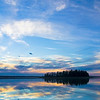 "February 8, 2011<br /> <br /> ""Blue Skies""<br /> <br /> Astotin Lake<br /> Elk Island National Park, Alberta"