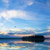 "February 8, 2011<br /> <br /> ""Blue Skies""<br /> <br /> Astotin Lake<br /> Elk Island National Park, Alberta"