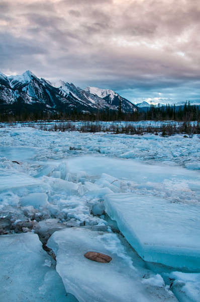 Ice on the Snaring River