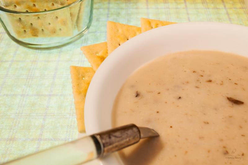 Mushroom Soup & Crackers