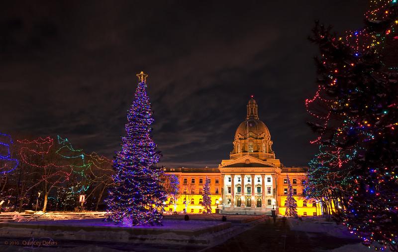 "Day Forty-Three<br /> <br /> ""Legislature Lights""<br /> <br /> Alberta Legislature Building<br /> Edmonton, Alberta"
