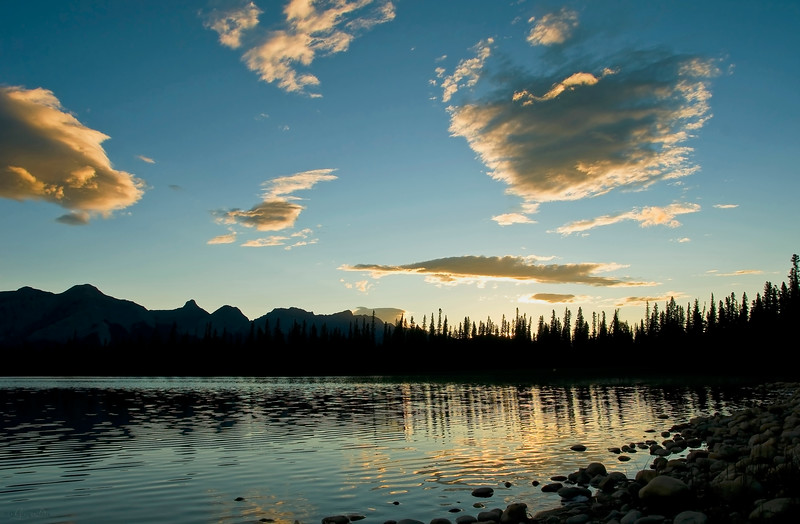February 16, 2013<br /> <br /> Kinky Sunset<br /> <br /> Kinky Lake<br /> Wildhorse Provincial Park, Alberta