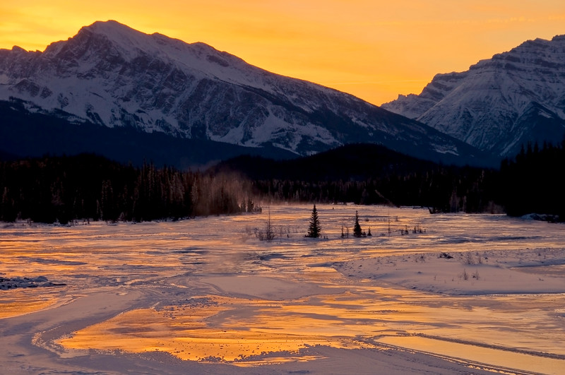 January 20, 2014<br /> <br /> Athabasca River<br /> Jasper National Park, Alberta<br /> <br /> * Jasper in January<br />  For the month of January, I will be editing images from my annual trips to Jasper in January.