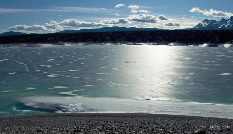 """Day Twenty<br /> <br /> """"Icy Abraham Lake""""<br /> <br /> In the foothill of the Canadian Rockies<br /> Near Nordegg, Alberta <br /> <br /> Also my destination for the weekend !!<br /> Back with Daily Photos in a couple days :)<br /> <br /> And thank you all so much for all your wonderful comments to now :)"""