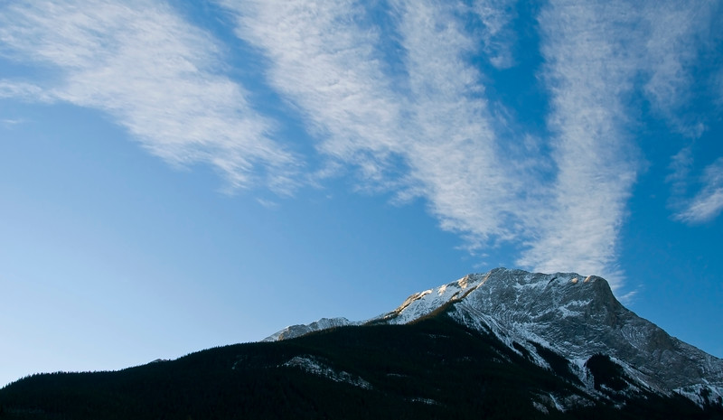 """February 16, 2014<br /> <br />  Jasper National Park, Alberta<br /> <br /> * Alphabet Challenge - This is a bit of a stretch, but I am sure there is an """"E"""" in the clouds :)"""