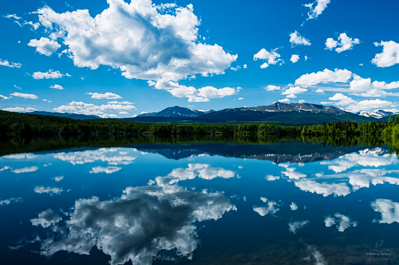 Reflection on Grande Cache Lake