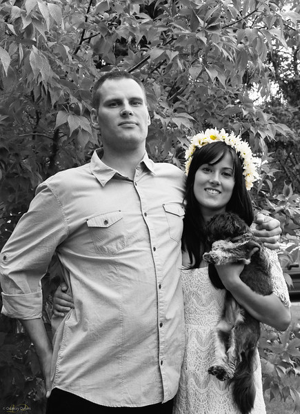 "August 1, 2011<br /> <br /> ""Kurt & Jess""<br /> <br /> * My brother, Kurt, and his beautiful bride, Jessica (and their puppy, Merle). It was an awesome celebration in honour of an awesome couple!!<br /> <br /> Live, Love and Laugh... and do it often ;-)<br /> Love ya!!"