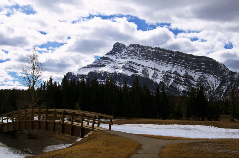 """Day Forty-One<br /> <br /> """"Cascade Mountain""""<br /> <br /> View from Cascade Ponds<br /> Banff National Park, Alberta<br /> <br /> ( I have to play catch up - I got a couple days behind )"""