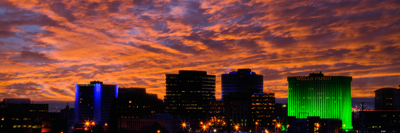Downtown ABQ at dusk