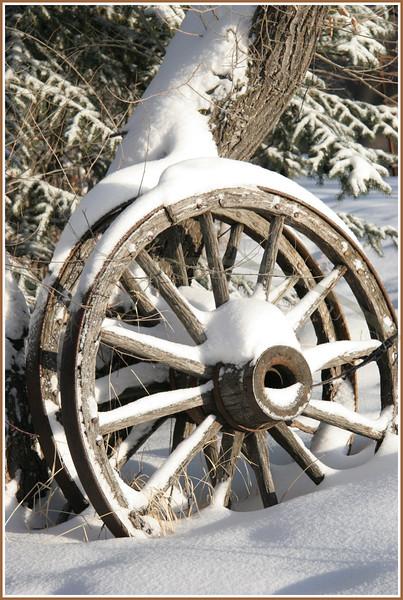 Jan. 21, 2005: Wagon wheels, snow and sunshine.