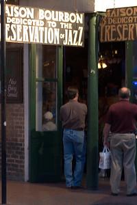 May - NOLA jazz on Bourban Street