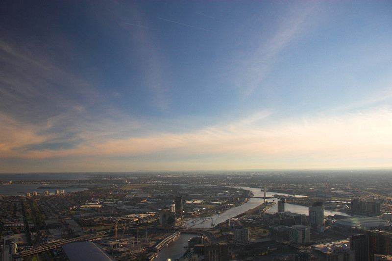 A view across Melbourne's Docklands in the afternoon.