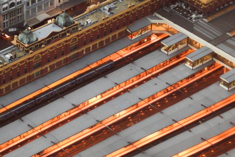 Flinders Street Station Platforms.