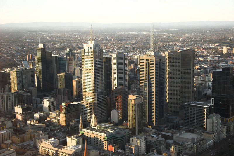 Melbourne towers.