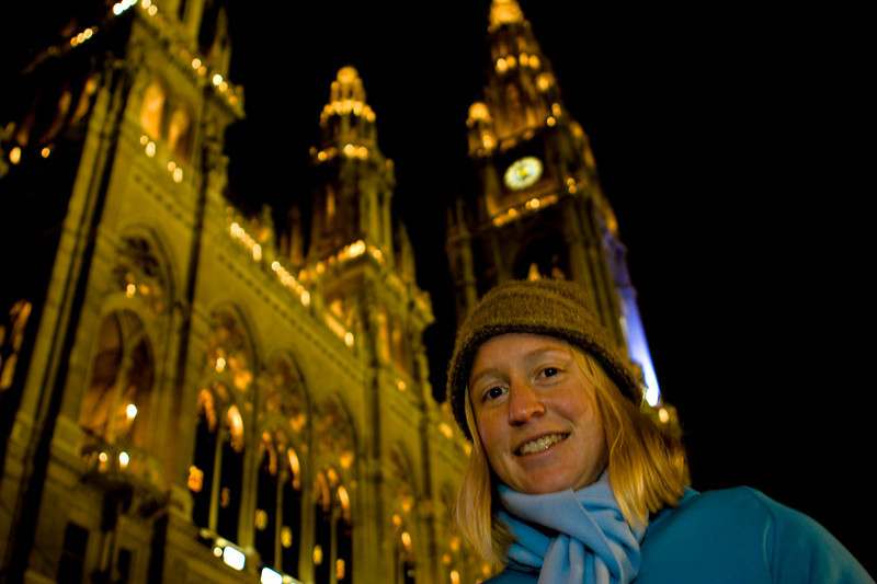 Winter festival in Vienna at the town hall