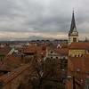 View of Ljubljana rooftops