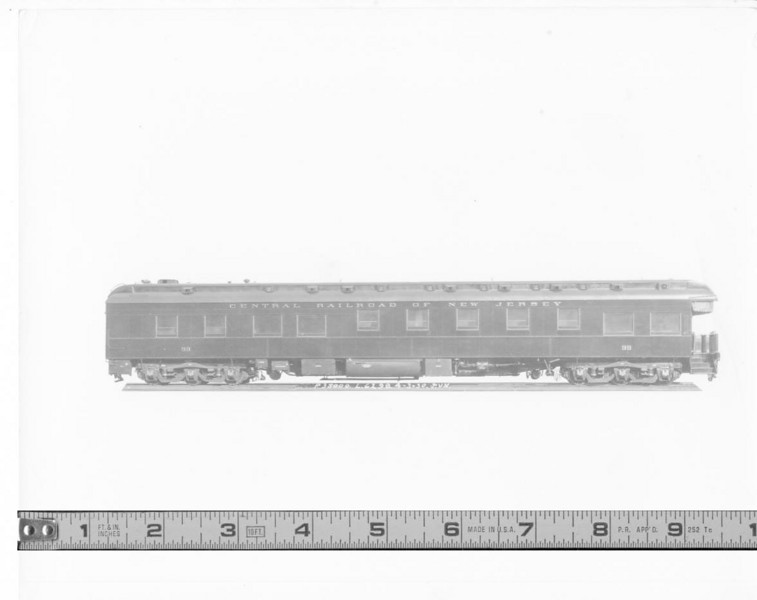 CRRofNJ #99 observation car builders 8x10 photo Central Railroad of New Jersey car #99. <br>Pullman Co builder's photo. Car built 4/3/1930.