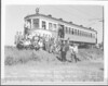 Central Electric Railfans Association fantrip. 7/14/1940<br /> <br /> Car #1714 near Moran Iowa. Former Lake Shore Electric #180.