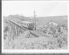 Central Electric Railfans Association fantrip. 7/13/1940.<br /> Car #62 on trestle.
