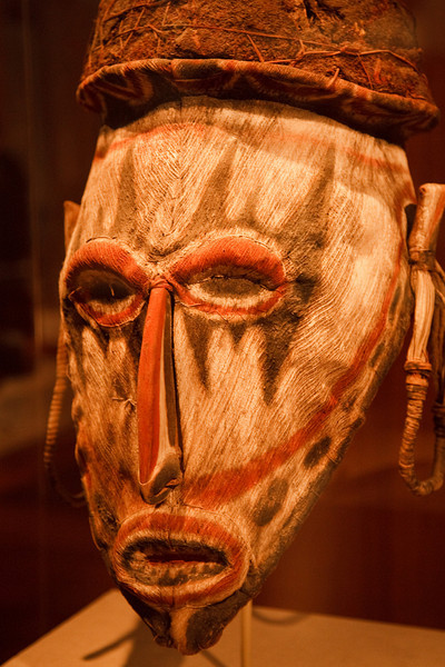 African mask  in de Young Museum of San Francisco