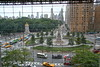 September 13, 2008 Columbus Circle - New York City. Shot from the 4th floor of the Time-Warner Center. That's the southwest corner of Central Park on the left.  The street down the cneter is Central Park South aka 59th Street. This was Saturday morning - Hurricane Hana was on the way so it was hot and muggy and the sky was awful for pictures. I took a lot of standard shots of stuff you've seen before so I've been trying to post a few things that are a little different.  We're in for three days of miserable weather here so I'll keep using some of my New York stuff.