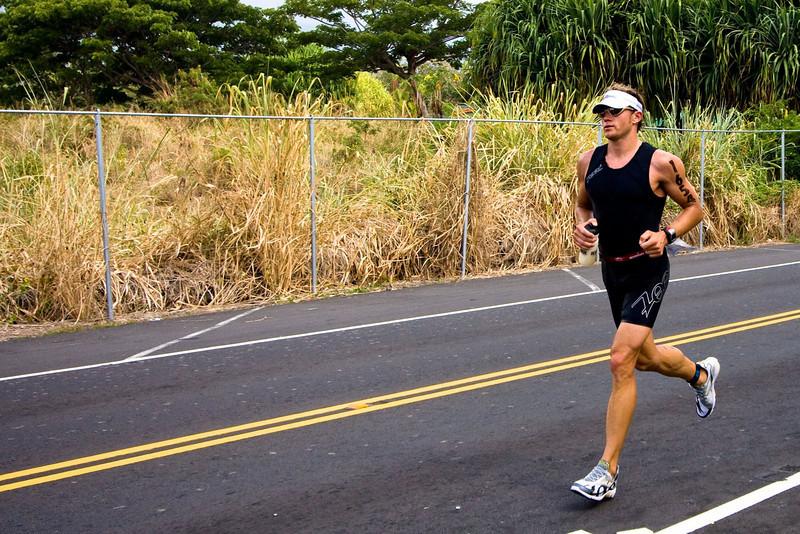 Daniel on first stretch of run