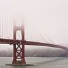 "May 19, 2009:<br /> Golden Gate Bridge in Fog<br /> Today we have another fine day in the Valley: 80F, sunny and a few clouds. I decided to take a few pictures of the Golden Gate Bridge. It was a challenge: freezing temperature of 53F, dense fog, low clouds and gusty wind. Here is a result. It's not exactly a postcard but I remember this shoot.<br />  <a href=""http://en.wikipedia.org/wiki/Golden_Gate_Bridge"">http://en.wikipedia.org/wiki/Golden_Gate_Bridge</a>"