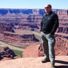 October 4, 2009<br /> Two thousand feet below is Colorado River. In Dead Horse Point State Park, Utah.