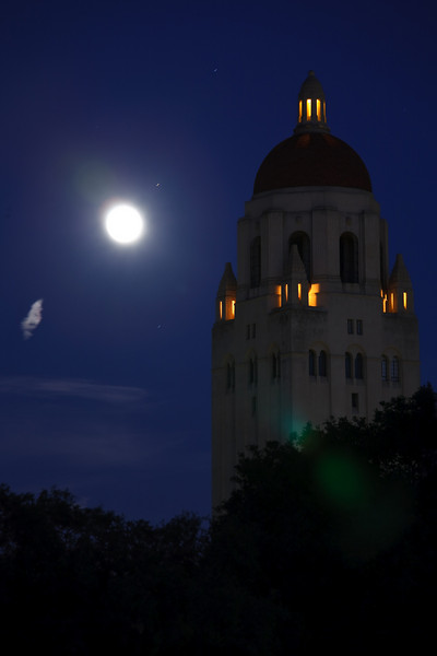 """June 17, 2009 <br /> Stanford at night<br /> Hoover tower at Stanford University, Palo Alto, CA<br />  <a href=""""http://en.wikipedia.org/wiki/Hoover_Tower"""">http://en.wikipedia.org/wiki/Hoover_Tower</a>"""
