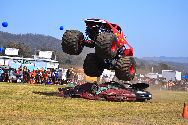 May 23, 2009:<br /> Flying Monster Truck <br /> Dream Machines Show in Half Moon Bay, CA
