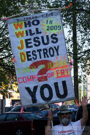 This was a cheerful way to enter the festival. Jesus is all about destruction you know.