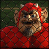 """28Aug09  caged devil.  that best sums up the game, as well.  high school football began tonight, and this one was such a lop-sided event i wouldn't be surprised if the other team's kicker had to ice his leg.  <a href=""""http://carpelumen.smugmug.com/Photography/2008/August08/5590065_XKpdV/1/360992490_4nrpN/Medium"""">one year ago.</a>  f/8, 1/320s, iso 640."""