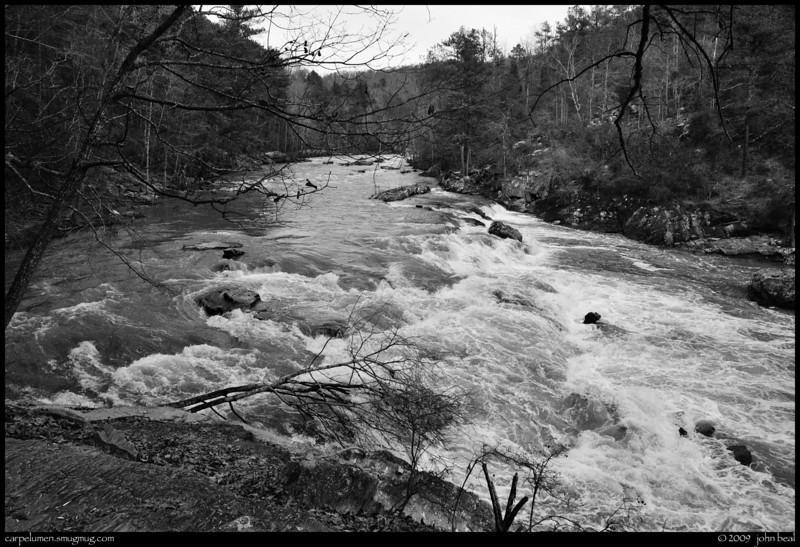 """(12Dec09)  sweetwater creek, where the red, blue and white trails all meet.  i've gotten 2 new galleries up, one from yesterday's hike at <a href=""""http://carpelumen.smugmug.com/Landscapes/Sweetwater-Creek-State-Park/11Dec09/"""">sweetwater creek state park</a>, and one from last week's trek at <a href=""""http://carpelumen.smugmug.com/Landscapes/Arabia-Mountain/04Dec09/arabia mountain"""">arabia mountain</a> (in b/w).  f/11, 1/500s, iso 800."""