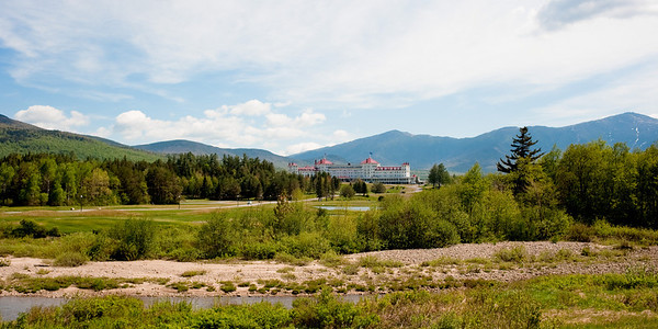 Bretton Woods Hotel - mt washington is to the right of the picture. Cold, windy, high elevation.