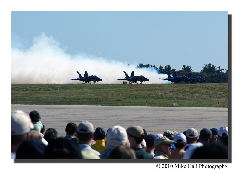"""The Angels""<br /> The star attraction of the show, The US Navy Blue Angels, getting ready to take-off."