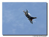 """After Burner""<br /> The F-16 banks after the Mach 1 flyby."