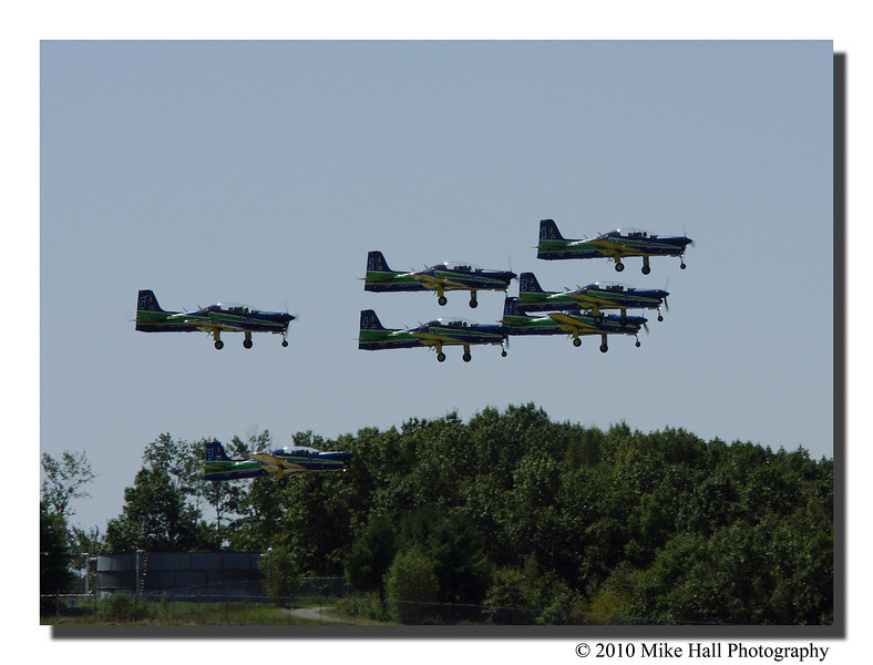 """""""Esquadrilha de Fumaca""""<br /> The Brazilian Air Force Aerobatics Team, also known as The Smoke Squadron, takes off to wow the crowd. This was a very rare performance as the squadron is only performing in the US twice this year."""