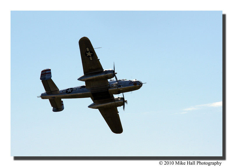 """B-25J Panchito""<br /> The old bomber did a fly-over later in the day and was a pretty amazing sight to see."