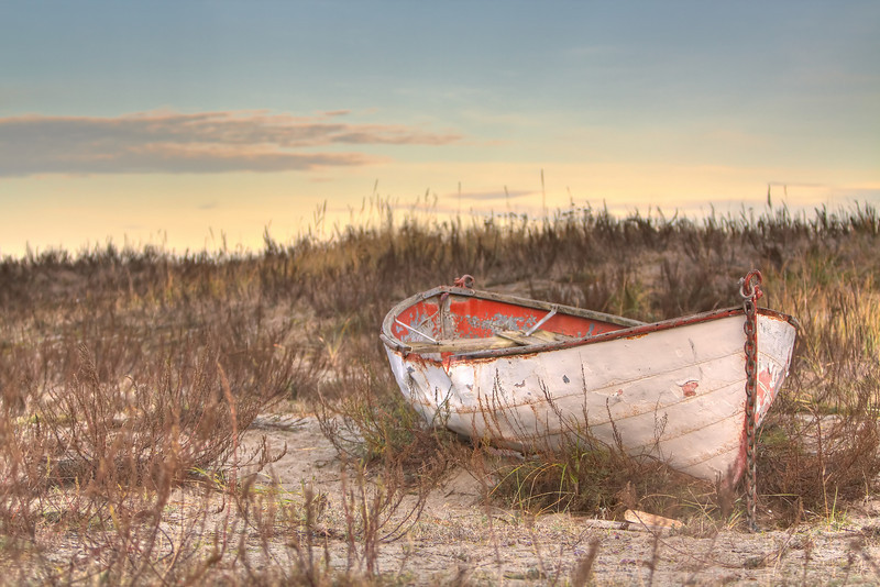 Rowboat on the dunes