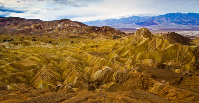 Zabriskie Point - went back for a second rise, along the ridge trail. Sunrise was a bit of a bust.