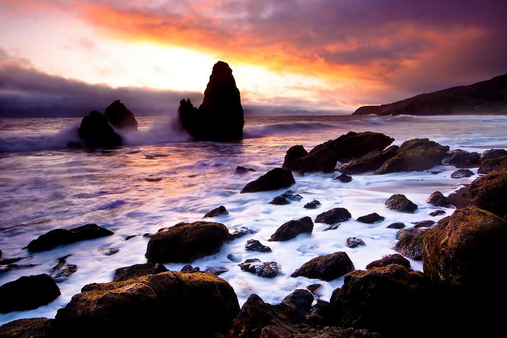 """Last Rays Over Rodeo"" - Rodeo Beach, Marin Headlands, CA (2010)"