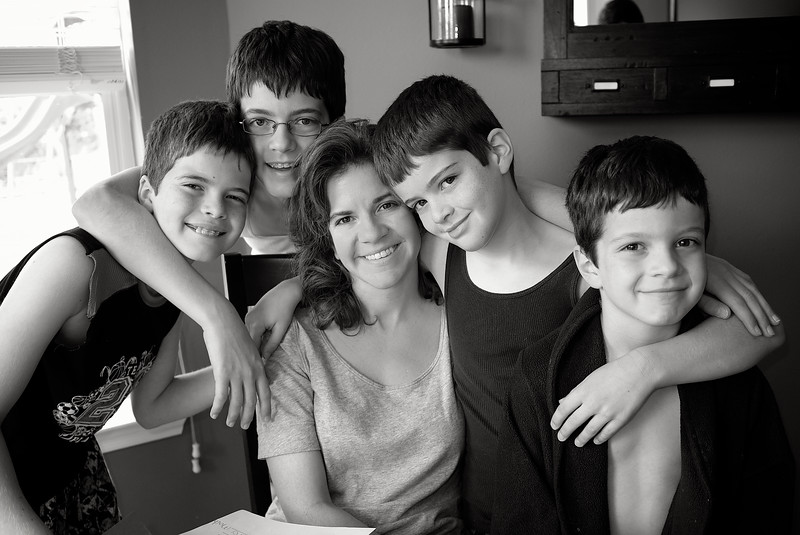 May, 2010<br /> <br /> Darcy and the boys on Mother's Day.
