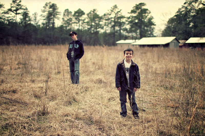 March, 2010<br /> <br /> Trevor and Ethan in SC.