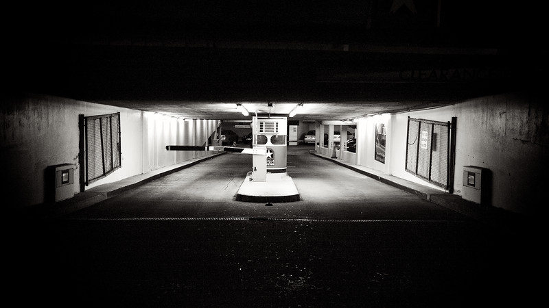July, 2010<br /> <br /> A parking garage entrance in downtown Houston.