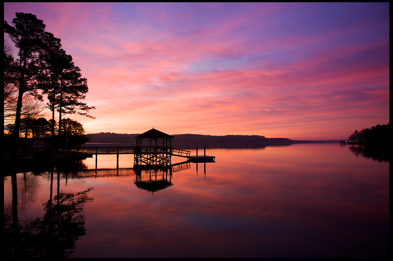 March, 2010<br /> <br /> Gorgeous sunrise over the lake in SC.