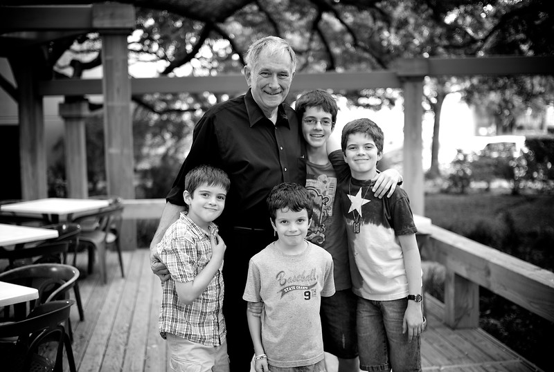 September, 2010<br /> <br /> Dad and the boys after our weekly Sunday lunch.