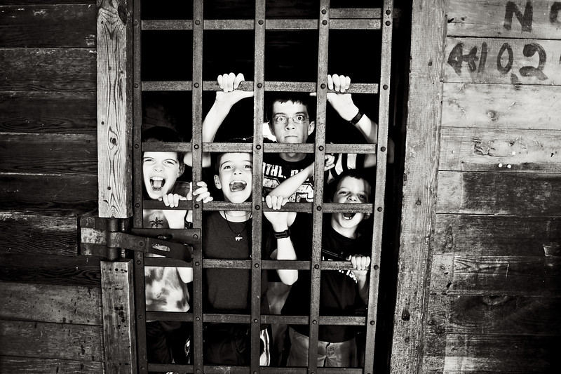 June, 2010<br /> <br /> The boys experience an old jail in SD.