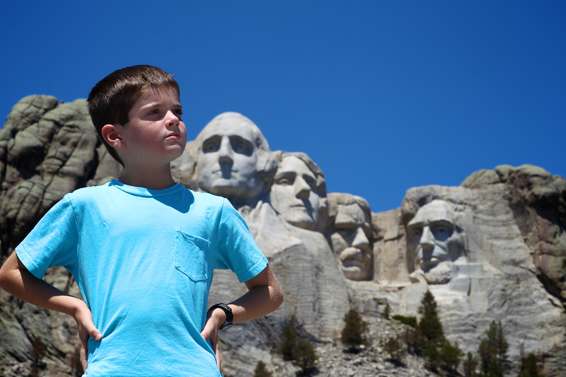 June, 2010<br /> <br /> Micah poses for the completion of Mount Rushmore. ;)