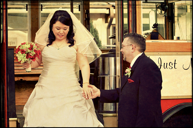 March, 2010<br /> <br /> The bride and groom arrive at the wedding in style.