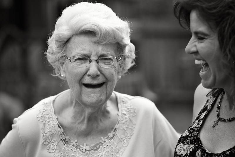August, 2010<br /> <br /> Darcy tickles her Grandmother to get her to laugh for a picture.